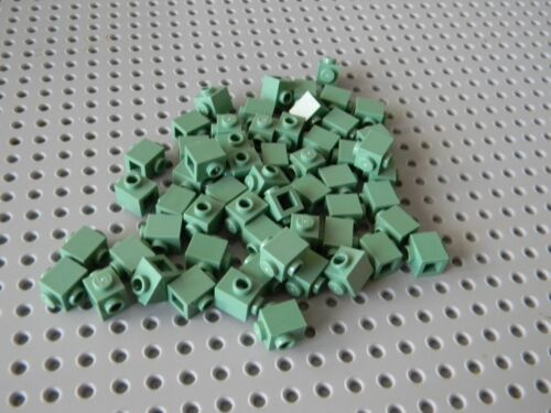 Lot of 50 New 1 x 1 Sand Green Bricks with 2 side studs Hard to find ! Lego