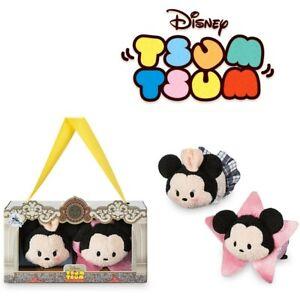 "Tsum Tsum Mickey and Minnie Mouse Plush Set Mini 3 1/2"" New – Los Angeles Set"
