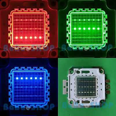 20W RGB Red Green Blue Full Color Colorful High Power LED Lamp Light 20Watt COB
