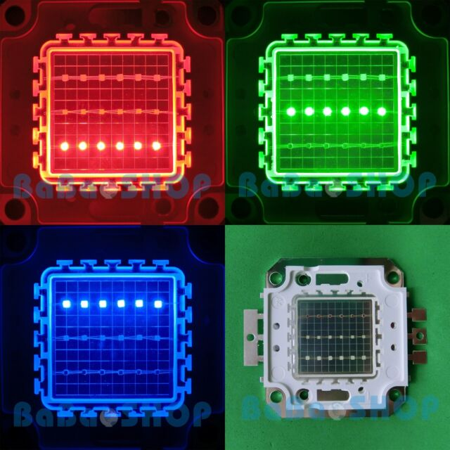 20W RGB Red Green Blue Full Color Colorful High Power LED Lamp Light 20Watt COB