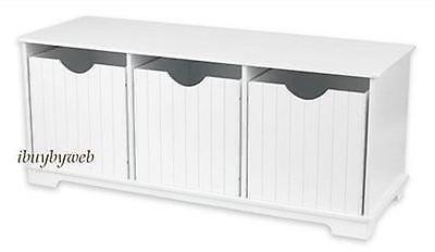 Kidkraft 14564 Kids Nantucket Storage Bench Toy Box White NEW