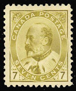 Canada 92, Mint 7¢ VF H Beauty! Unitrade $500.00 - Stuart ...