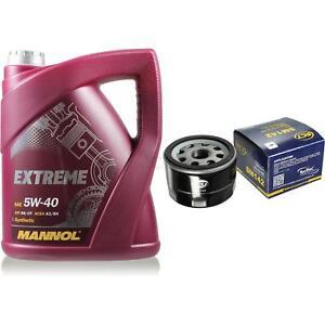 Paquete-de-inspeccion-5l-MANNOL-Extreme-5w-40-filtro-para-Renault-Megane-scenic