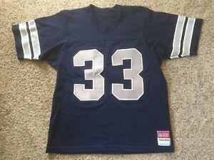 save off 76d44 7b608 Details about TONY DORSETT VTG #33 Dallas Cowboys Authentic JERSEY 80s NFL  SAND KNIT Sz L Mens