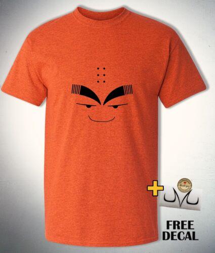 DBZ t shirt Z fighter Emoji Anime parody shirt Funny Krillin face expression