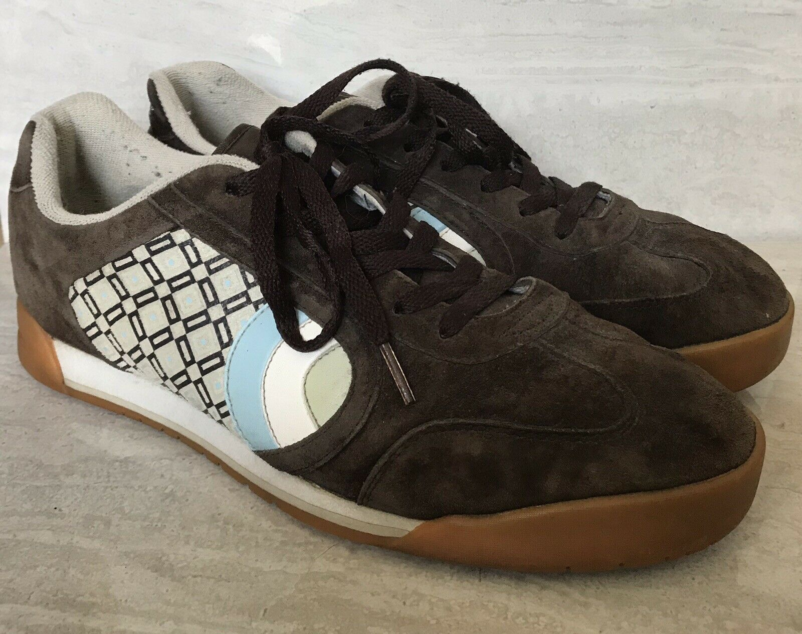 BEN SHERMAN WILDCAT Men's Leather Suede Fashion Vintage Sneakers Brown+  US 11