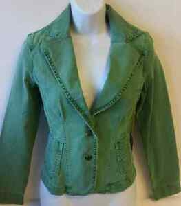 Level 99 Jean Jacket Dark Green New With Tags Ebay