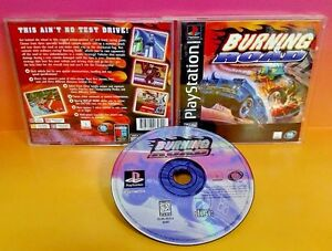 Burning-Road-Playstation-1-2-PS1-PS2-Rare-Game-Complete-Tested-Racing-Race