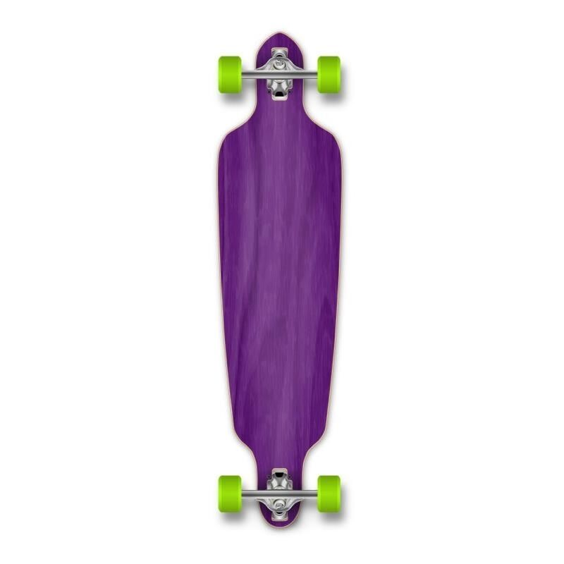 Yocaher Drop Through Blank Longboard Complete - Stained Purple