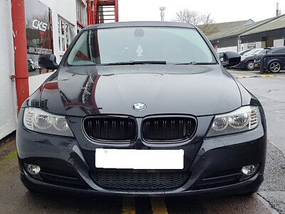 FOR BMW 3 SERIES E90 E91 04-09 FRONT BUMPER CHROME//BLACK KIDNEY GRILLE PAIR SET