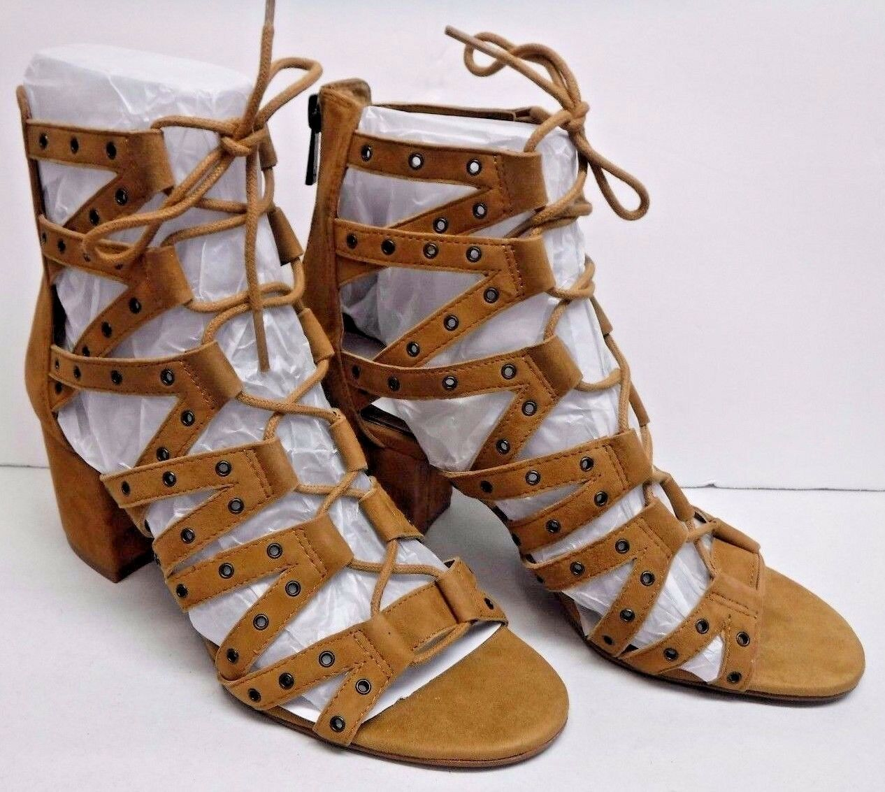 Jessica Simpson Größe 6 Honey Braun Leder Sandales Heels Heels Heels New Damenschuhe Schuhes fdaa06