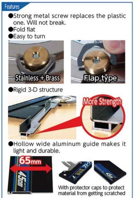 SHINWA Circular Saw Guide Free Bevel Angle Neo Adjustable Bevel Free 100 cm 1000 mm 73163 bffb42