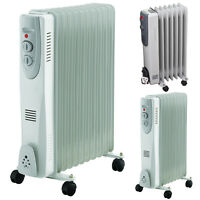 ELECTRICAL OIL FILLED PORTABLE RADIATOR HEATERS ADJUSTABLE THERMOSTAT 240V FINS