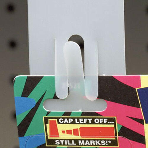 5 NEW Hanging Merchandising Strip Display Plastic Clip Strips for 12 items