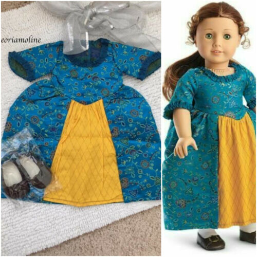 American Girl Doll Felicity  BeForever MEET GOWN//Dress SHOES~2 piece outfit~NEW