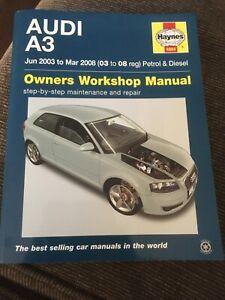 Audi A3 8P 2003 - 2008 Haynes Owners Workshop Manual. Pre ...