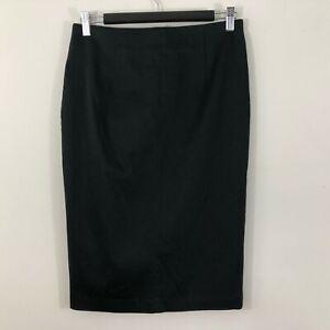 Portmans-Womens-Skirt-Size-10-Black-Straight-Stretch-Work