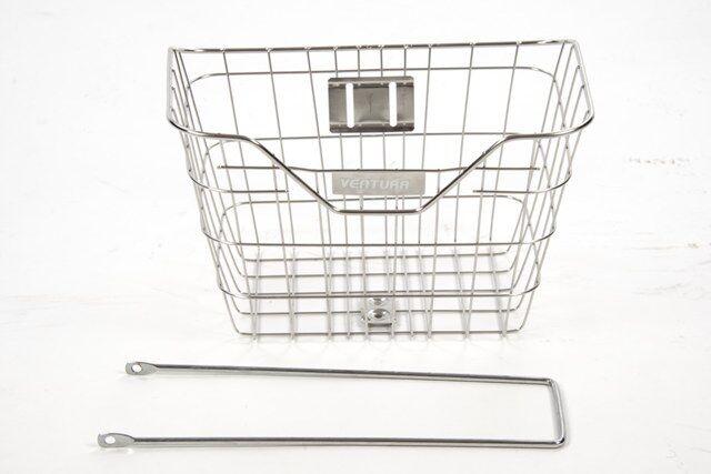 Semi Stalinless steel bicycle basket