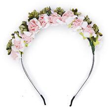 Flower Garland Flowers Bride Wedding Headband Hair Band LW