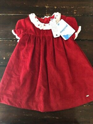Nwt Mayoral Boutique Girls Red Dress 9 12 18 Mo Holiday Christmas Ebay