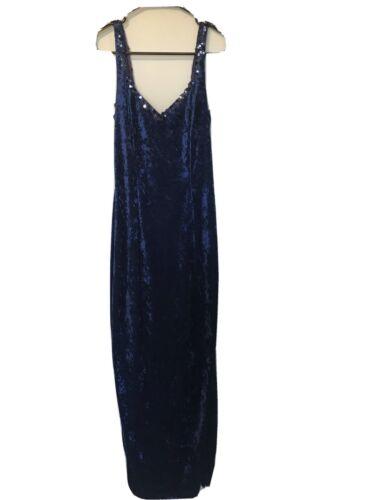 Blue Velvet Gunne Sax Dress - image 1