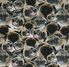 JERSEY Digitaldruck Möpse Tiermotive Stoffe Hunde Mops Baumwolljersey Dogs Tiere