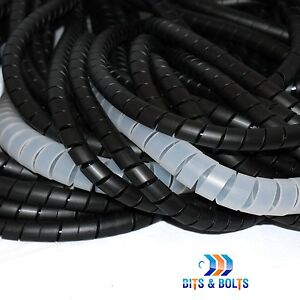 Spiral Cable Wrap//Tidy//Hide//CCTV PC,TV,Home Cinema,Wire Management