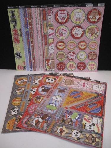 Kanban Super pequeños héroes Die-cortes Toppers 9 X A4 Hojas Cardmaking AM294