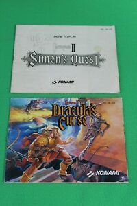 Original-Nintendo-NES-Instruction-Book-Booklet-Castlevania-II-amp-III-Darcula-039-s