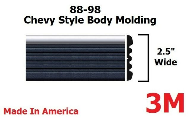 Body Molding Chrome / Black Side Molding Fits Chevy Tahoe Blazer Trucks 2.5""