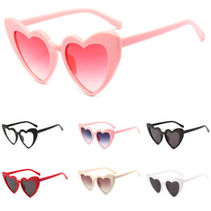 9da7400b23 Image is loading Heart-Shaped-Sunglasses-Retro-Women-Fashion-Travle-amp-