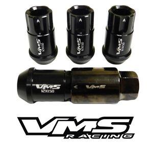 For Infiniti 12X1.25 Locking Lug Nuts Racing Aluminum Tuner Wheel 20Pc Kit Black