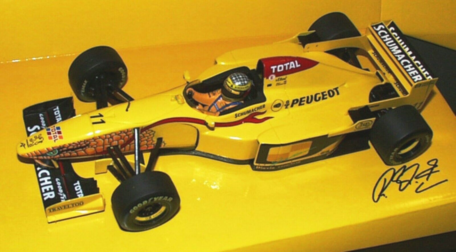 WOW EXTREMELY RARE Jordan 197 Peugeot R Schumacher Launch 1997 1 18 Minichamps