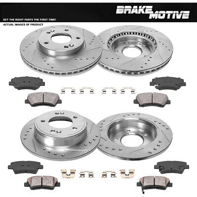 Rear Premium OE Brake Rotors /& Ceramic Pads For 2011-2017 Hyundai Elantra
