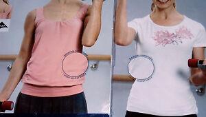 2er Pack Damen Wellness Shirt Gr.S L 2x Fitnessshirt Shirt+Top rosé+weiß NEU