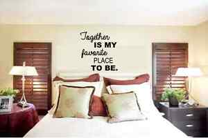 Together Is My Favorite Place To Be Vinyl Lettering Wall Quotes Home Art Decor Ebay