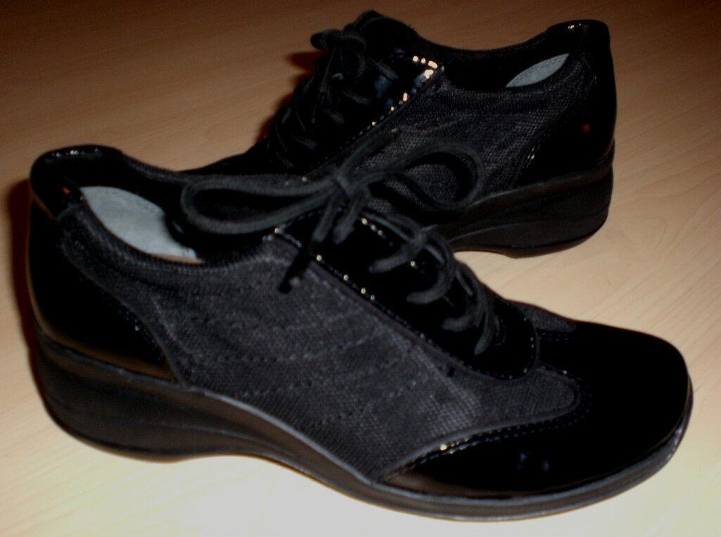 Easy Spirit Elviras Zapato Zapato Zapato Deportivo Negro Patente 5 Md Nuevo  barato