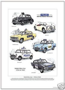 BRITISH POLICE CARS 1950s & 1960s - Fine Art Print - Ford ...1950s Cars For Sale Ebay
