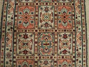 New Bakhtiari Floral Rectangle Area Rug Hand Knotted Wool Silk Carpet (4 x 2.6)' 630318096589
