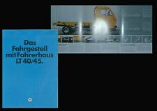 VW LT 40 45 Fahrgestell Fahrerhaus Prospekt 8/80 Broschüre 1980 Lkw Deutschland