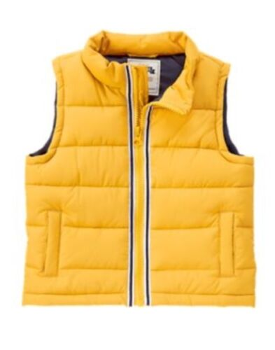 GYMBOREE HOMETOWN HERO YELLOW PUFFER VEST 12 24 2T 3T 4T 5T NWT