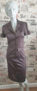 STAR-by-Julien-Macdonald-Brown-Satin-Shirt-Dress-size-8-UK