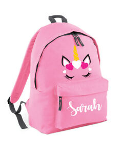 Personalised Unicorn Backpack For Girls Boys School Cute Teenager
