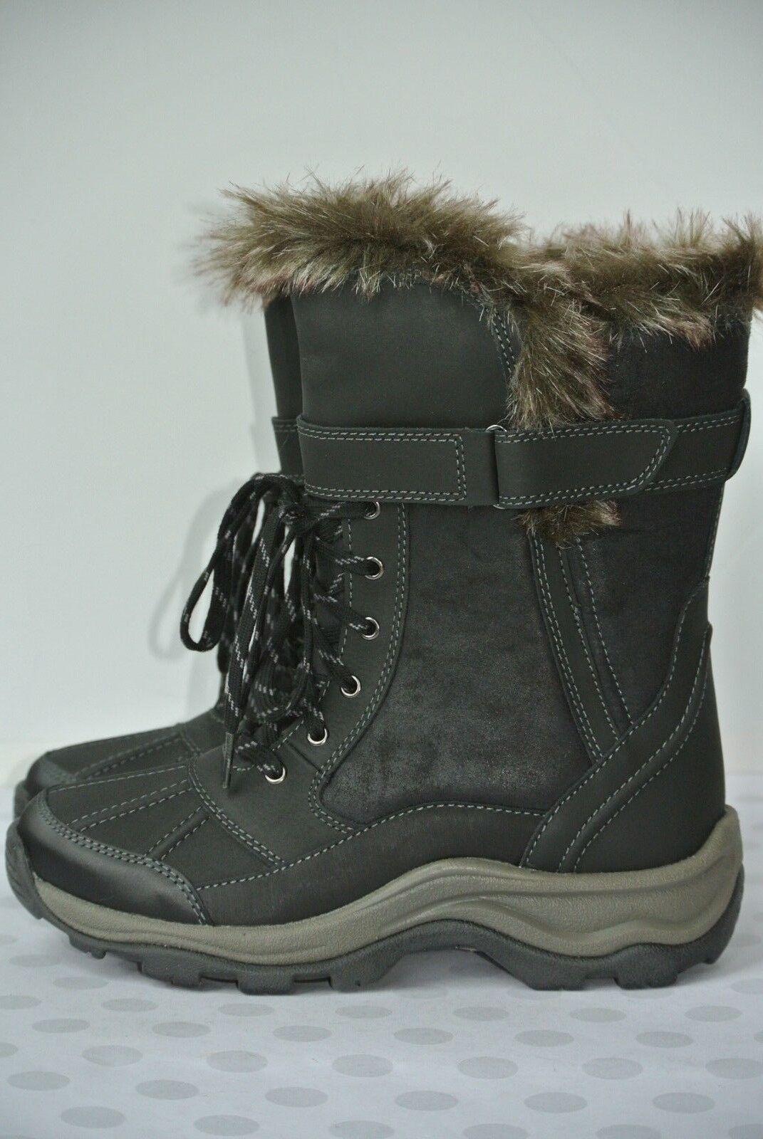e647c186 Nuevo Clarks Impermeable 6.5 M Negro Cordón de Cuero Para Mujer botas De  Invierno Mazlyn West nomdug8948-Botas