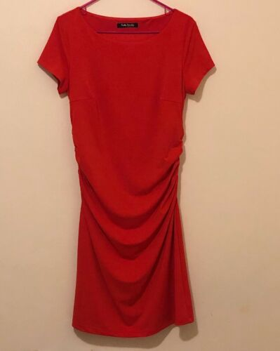 Betty Barclay Pleated Waist Red Casual Dress