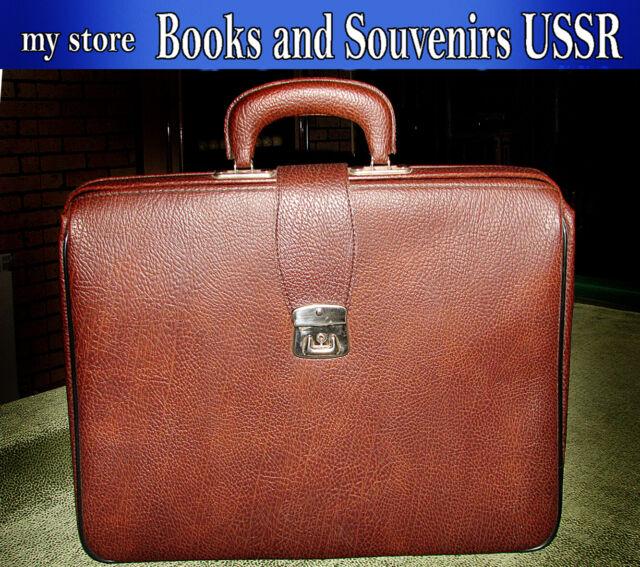 Fashion, vintage portfolio of the USSR 1970's, business man's portfolio.