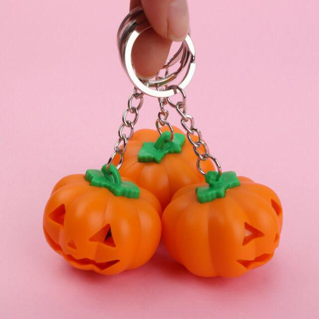 Halloween Pumpkin LED Light Luminous Key Chain Bag Accessories k.