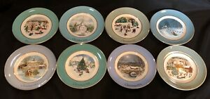 8-Avon-Christmas-Plate-Collectors-Series-1973-1980-Enoch-Wedgwood-Complete-Set