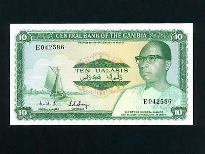 Beautiful Gambia:p-6b,10 Dalasis 1972-83 Ef * Dawda Kairaba Jawara 2nd Issue