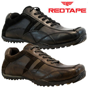new mens red tape leather casual lace up gym walking